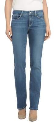 NYDJ Marilyn Straight-Leg Jeans in Heyburn