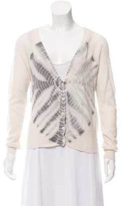 Raquel Allegra Cashmere Tie-Dye Pattern Cardigan