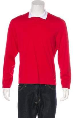 Brunello Cucinelli Collared Long Sleeve T-Shirt