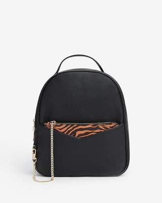 Express Backpack With Removable Zebra Print Pouch