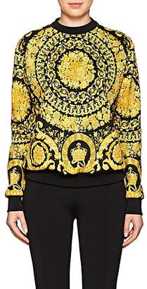 Versace Women's Baroque-Print Cotton-Blend Sweatshirt - Black