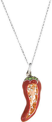 One Kings Lane Vintage Red Hot Chili Pepper Necklace Diamond - Precious & Rare Pieces