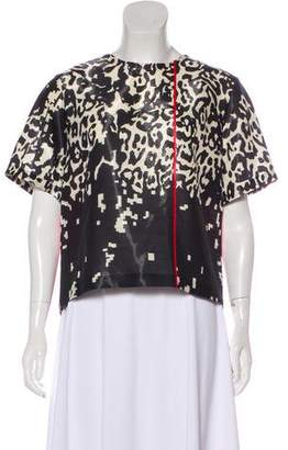 Preen by Thornton Bregazzi Printed Wool Top