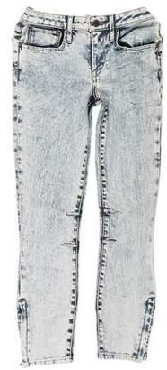 Helmut Lang Acid Wash Mid-Rise Skinny Jeans
