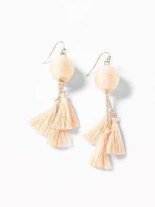 Old Navy Wrapped-Ball Tassel Drop Earrings for Women