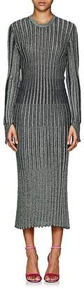 Cédric Charlier Women's Metallic Rib-Knit Midi-Dress
