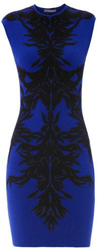 Alexander McQueen Spine lace jacquard bodycon dress