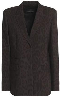Roberto Cavalli Leopard-Print Crepe Blazer