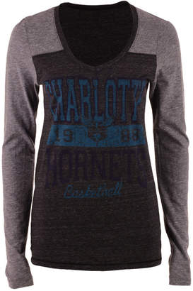 5th & Ocean Women's Charlotte Hornets Dunk Long-Sleeve T-Shirt