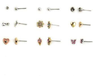 Jcp 9 Pair Multi Color Earring Sets eW4AwxqMk