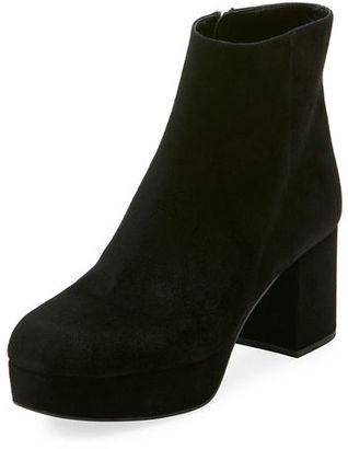 Prada Suede Platform Block-Heel Boot $950 thestylecure.com