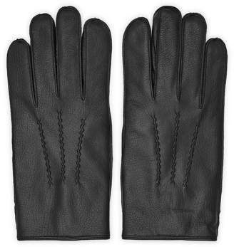 Reiss Glenworth - Leather Gloves in Black