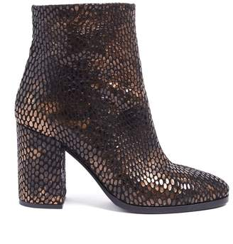 WtR - Golovin Black & Bronze Leather Ankle Boots