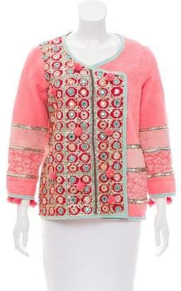 Manoush Quilted Embellished Jacket