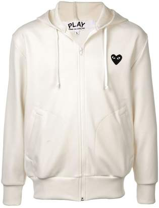 Comme des Garcons heart logo zipped hoodie