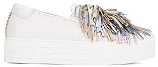 Kenneth Cole New York Women's Jayson Slip On Platform Sneaker Pom