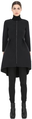 Long Neoprene Coat $295 thestylecure.com