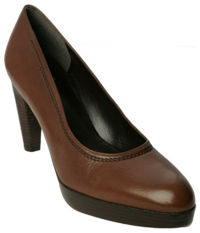 Stuart Weitzman hickory brown stacked platform 'Cabled' pumps