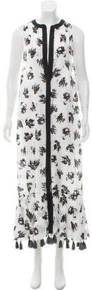 Proenza Schouler Floral Tassel Cover-Up