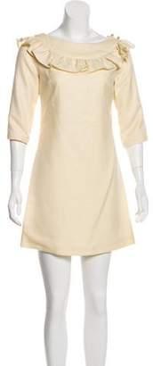 Loeffler Randall Ruffled Mini Dress