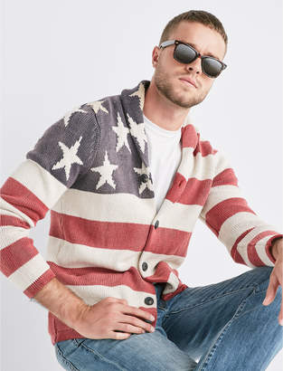 Lucky Brand AMERICANA FLAG SWEATER