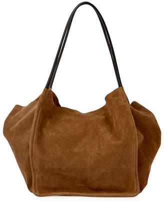 Proenza Schouler Extra-Large Suede Tote Bag, Beige