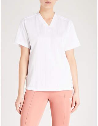 adidas Tonal stripes sports-jersey T-shirt