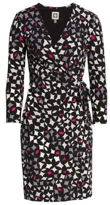 Anne Klein Print Wrap Dress