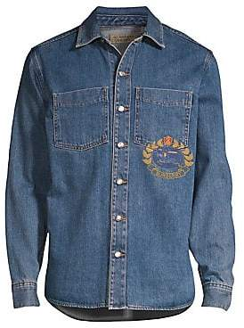 Burberry Men's Denim Crest Overshirt