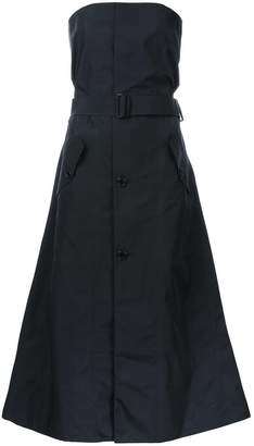 Yang Li strapless buttoned dress