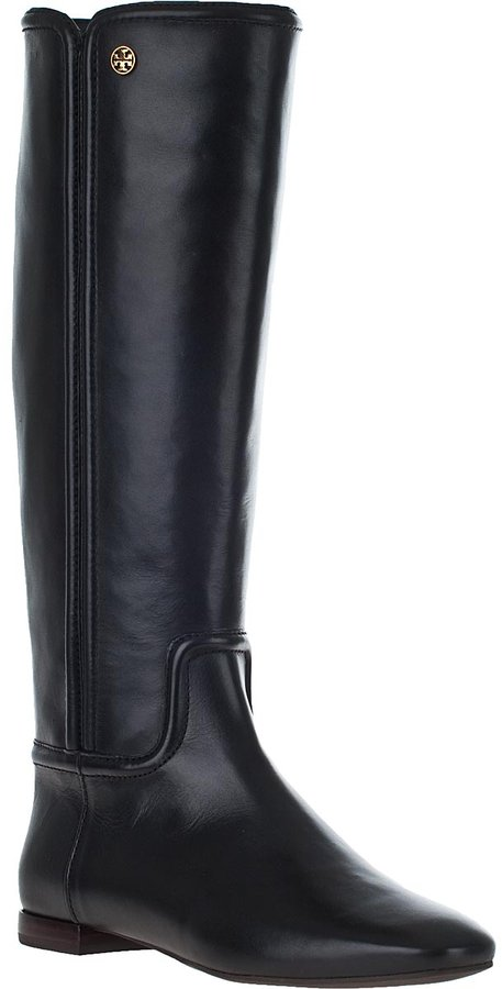 Tory Burch Irene Riding Boot Black Leather