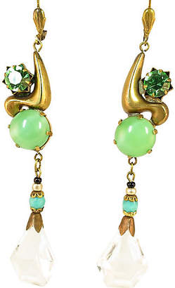 One Kings Lane Vintage 1920s Art Deco Czech Crystal Earrings - Neil Zevnik