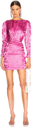 ATTICO Floral Jacquard Drape Dress in Pink | FWRD