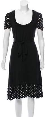 Temperley London Silk Midi Short Sleeve Dress w/ Tags