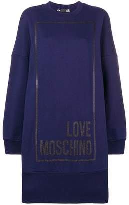 Love Moschino long sweater dress