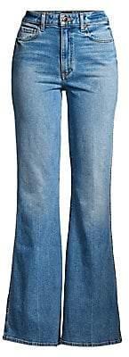 KHAITE Women's Reese Flared Leg Jeans