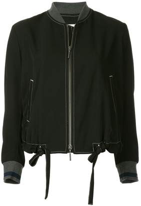 Ujoh contrast cuff bomber jacket
