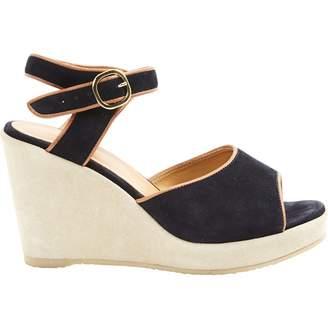 A.P.C. Black Suede Sandals