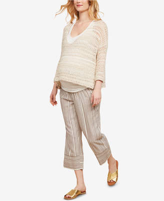 Jessica Simpson Maternity Cropped Wide-Leg Pants