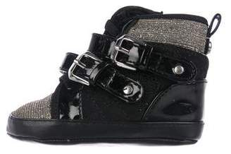 Stuart Weitzman Girls' Patent Leather High-Top Sneakers