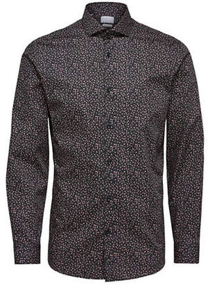 Selected Floral Long-Sleeve Cotton Sport Shirt