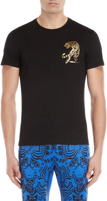 Versace Chest Foil Tiger Tee