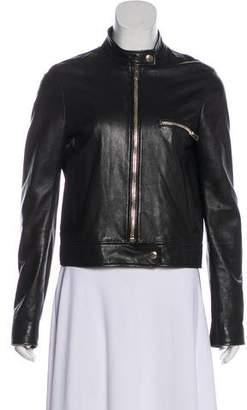 Joseph Zip-Up Leather Jacket