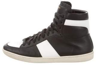 Saint Laurent SL/10H Leather Sneakers