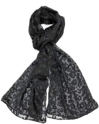 Violet Del Mar Leopard Printed Scarf