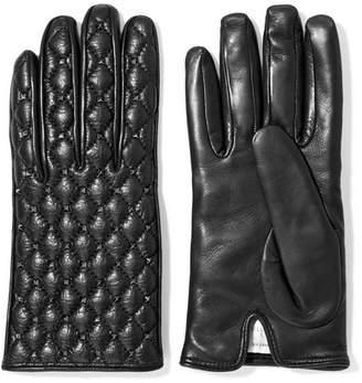 Valentino Garavani The Rockstud Leather Gloves - Black