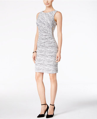 Ivanka Trump Textured Sunburst Sheath Dress $138 thestylecure.com
