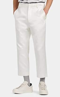 Sies Marjan Men's Cotton-Silk Satin Crop Trousers - White