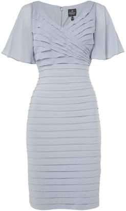 Adrianna Papell Flutter Sleeve Pintuck Dress