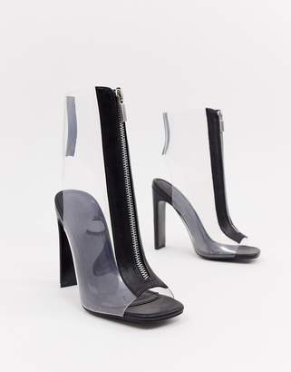 clear ASOS DESIGN Elody heeled boots